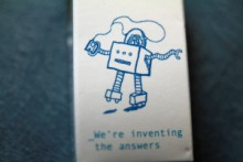 robot inventing answers