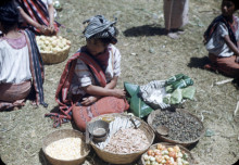 Photo of a woman at a market in Guatemala