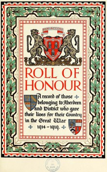 Digital scan of title page of Roll of Honour