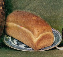 A loaf of bread on a plate.