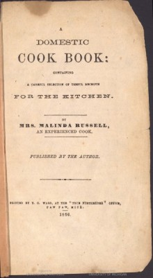 Title page of Malinda Russell's A Domestic Cookbook