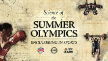 Screen shot of Science of the Summer Olympics web page