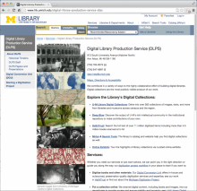 Screenshot of the DLPS web presence after the refresh.