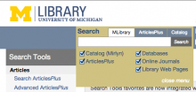 University of Michigan Library search