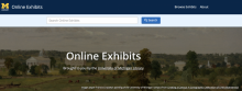Screen shot of online exhibits site