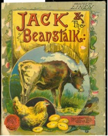 "Cover illustration featuring a cow in the center, with an inset image of the chicken that lays golden eggs. ""Printed on Linen"" in upper right corner."
