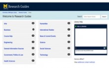 The Research Guides homepage, post-migration