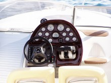 speedboat steering wheel and control panel