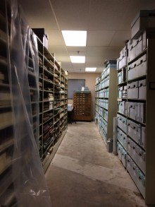 Photo of shelves with boxes