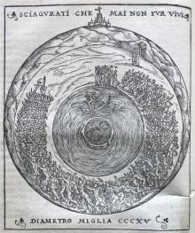 Woodcut from La comedia di Dante Aligieri con la nova espositione di Alessandro Vellutello (Venice: Francesco Marcolini da Forlì, 1544)