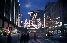 image of holiday decorations on the street