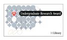 U-M Library Undergraduate Research Award Logo