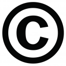 Copyright symbol: a black C surrounded by a black circle.