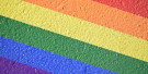 Rainbow stripes diagonally from top left