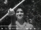 Still image from 1960s Texaco ad, girl with a baton