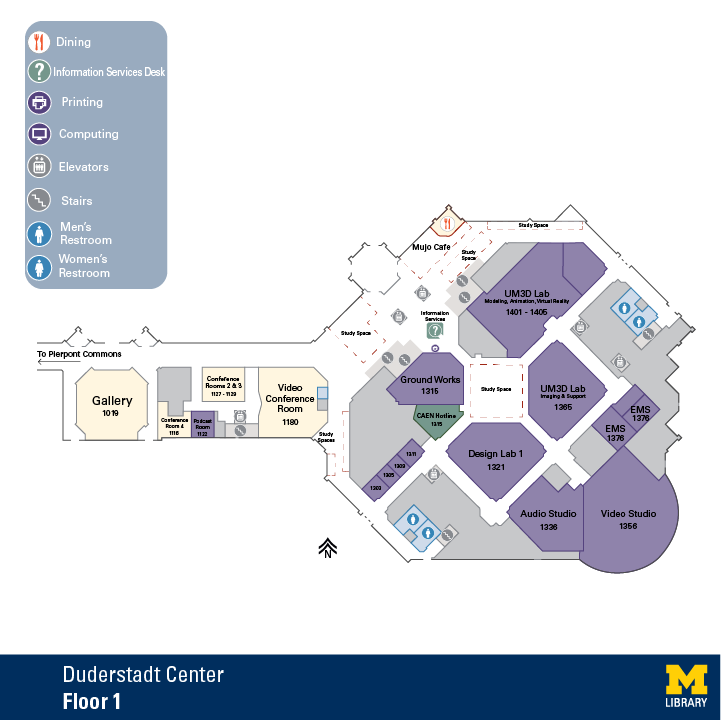 Floor Plan of Duderstadt Center First Floor