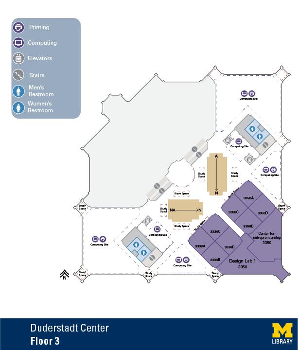 Floor Plan of Duderstadt Center Third Floor