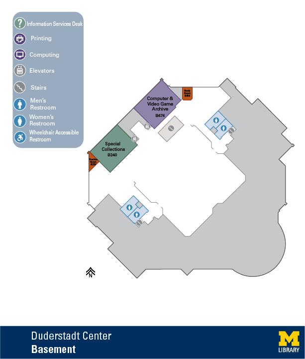 Floor Plan of Duderstadt Center Basement