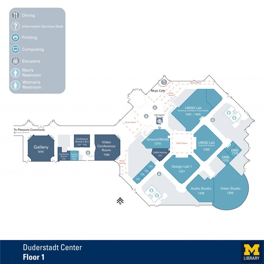 Duderstadt Center 1st Floor Plan