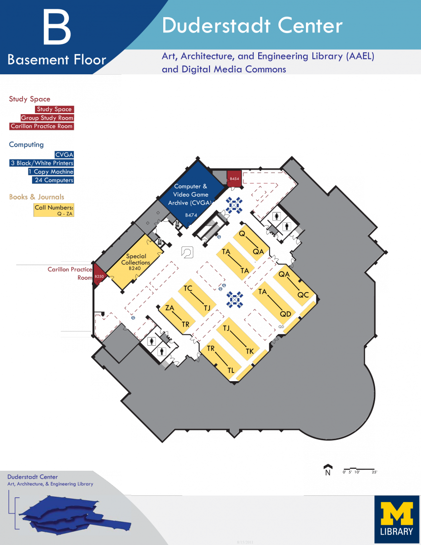 Floor Plan of Duderstadt Center Basement