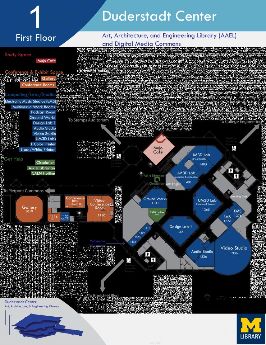 Floor Plan of Duderstadt Center First Floor