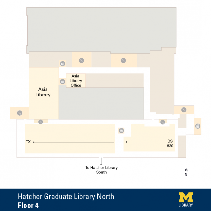 Floor Plan of Graduate Library North Fourth Floor