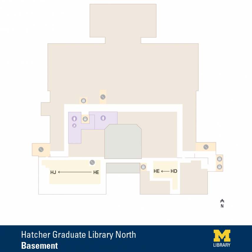 Floor Plan of Graduate Library North Basement