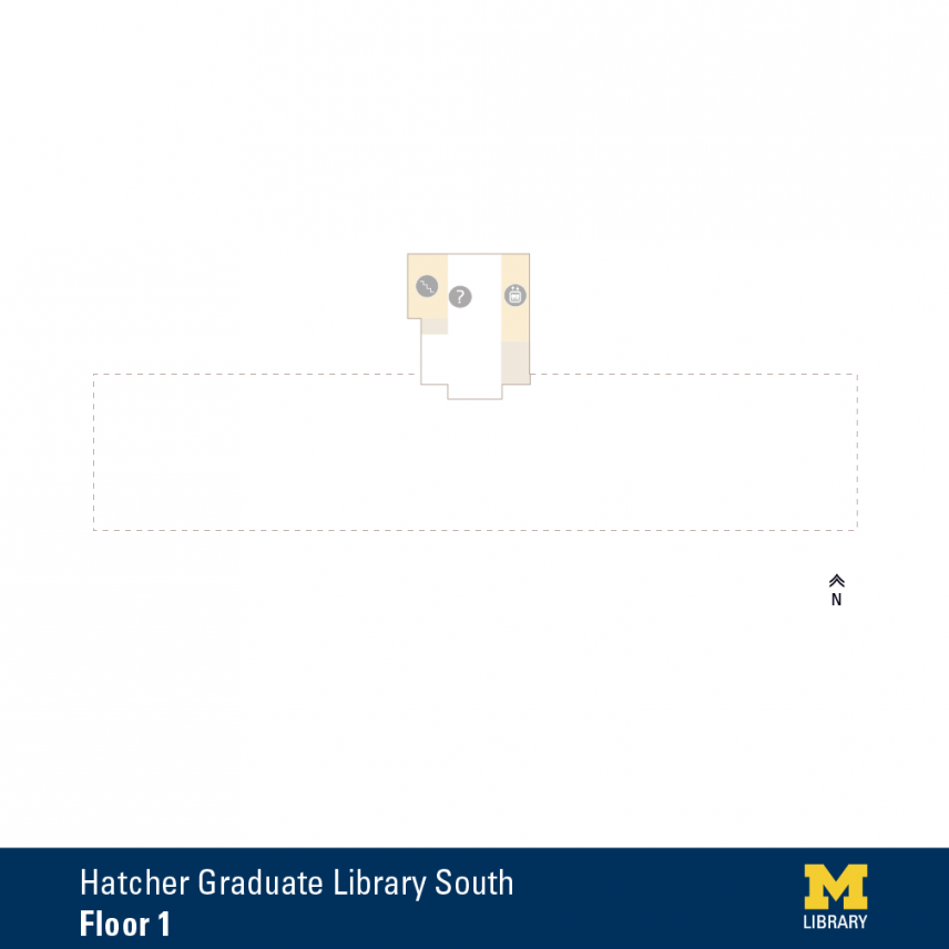 Floor Plan of Graduate Library South First Floor