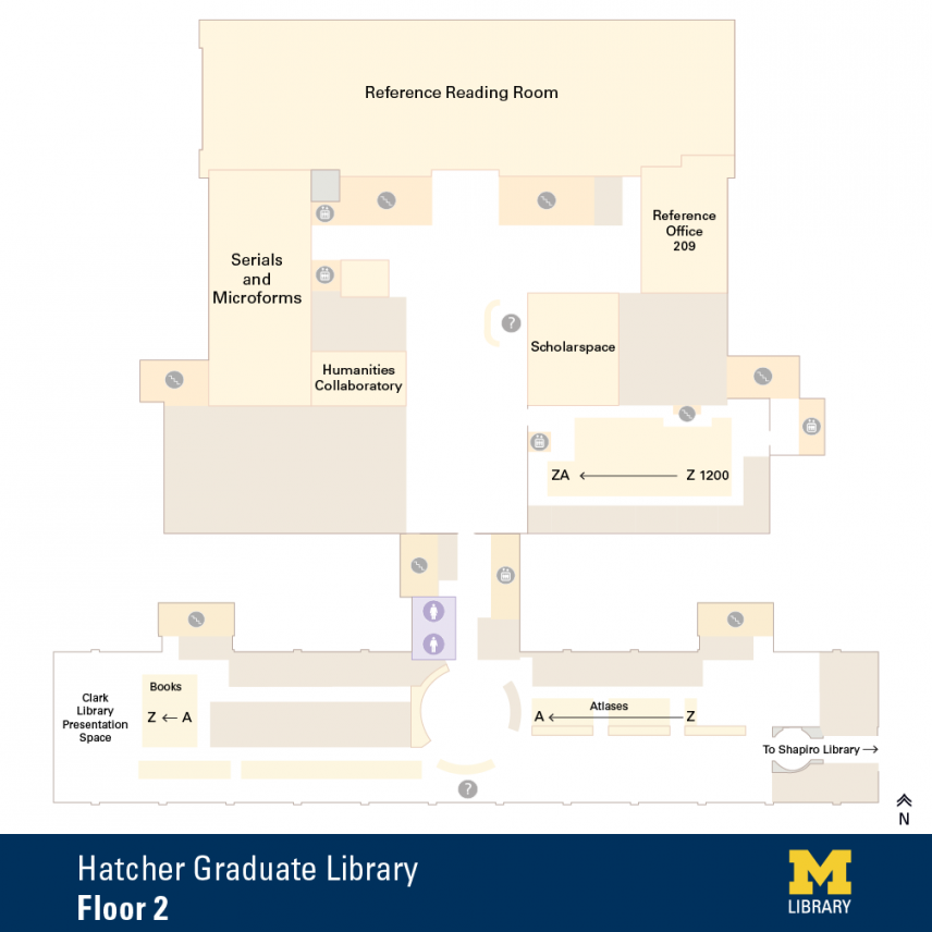 Floor Plan of Graduate Library Second Floor