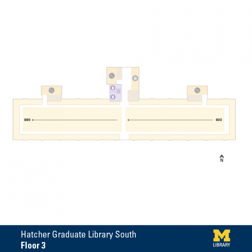 Floor Plan of Graduate Library South Third Floor