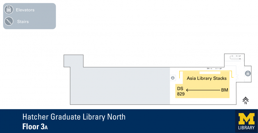 Floor Plan of Graduate Library North Third Floor A