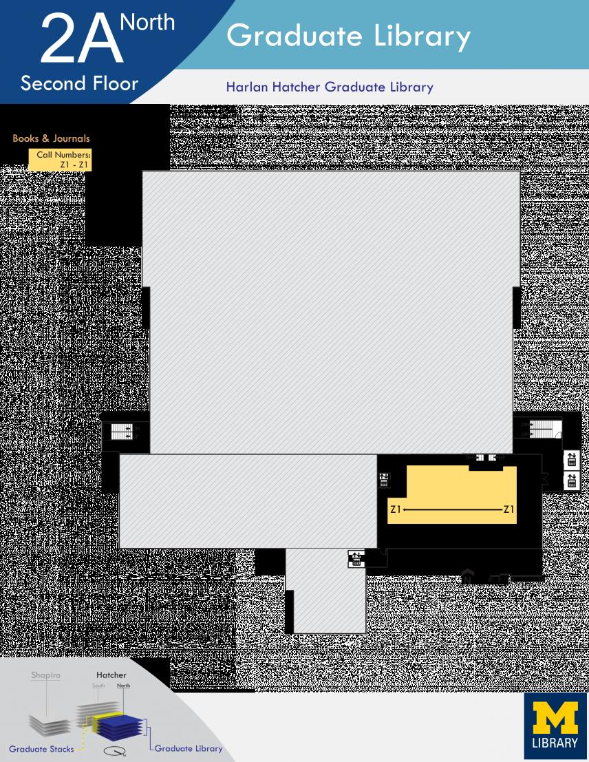 Floor Plan of Graduate Library North Second Floor A