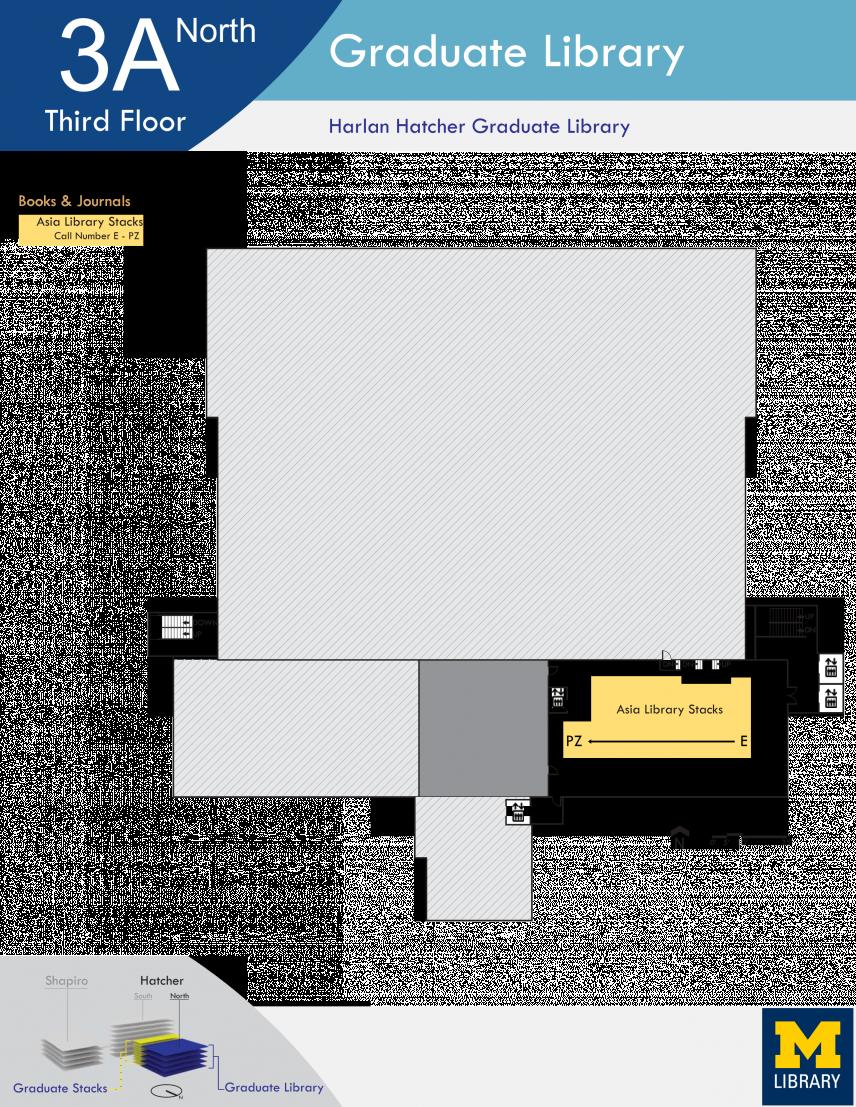 Floor Plan of Graduate Library North Third Floor A
