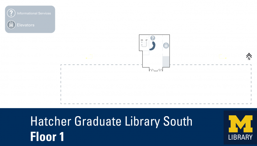 Floor Plan of Hatcher Graduate Library South 1
