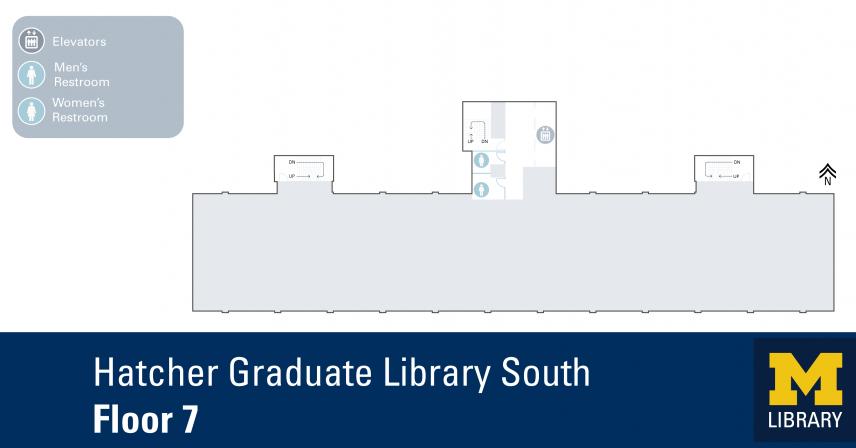 Floor Plan of Graduate Library South Seventh Floor