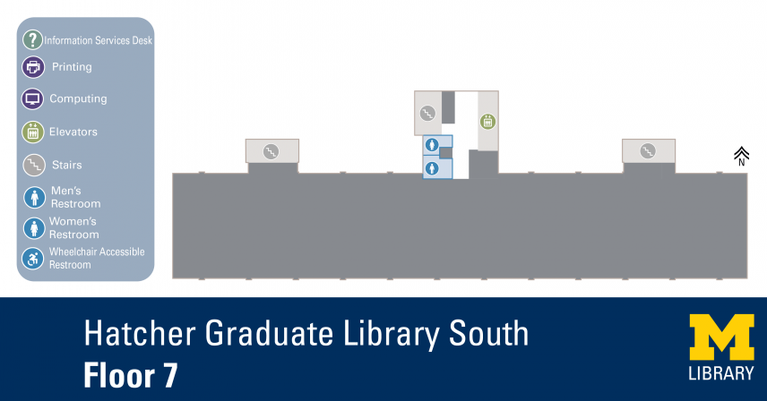 Floor Plan of Graduate Library South Seventh Floor