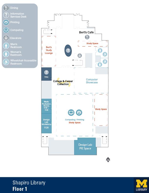 Floor plan of Shapiro 1st Floor