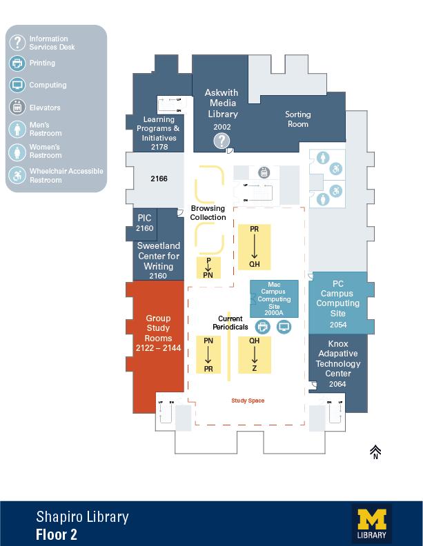 Floor Plan of Shapiro 2nd Floor