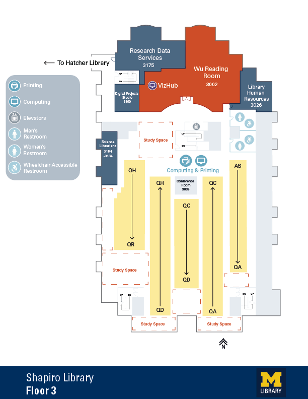 Floor Plan of Shapiro 3rd Floor