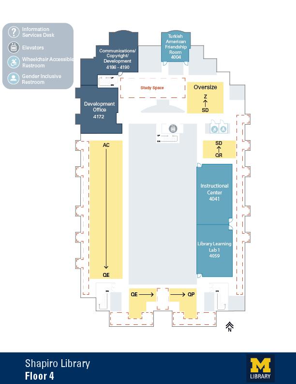 Floor Plan of Shapiro 4th Floor