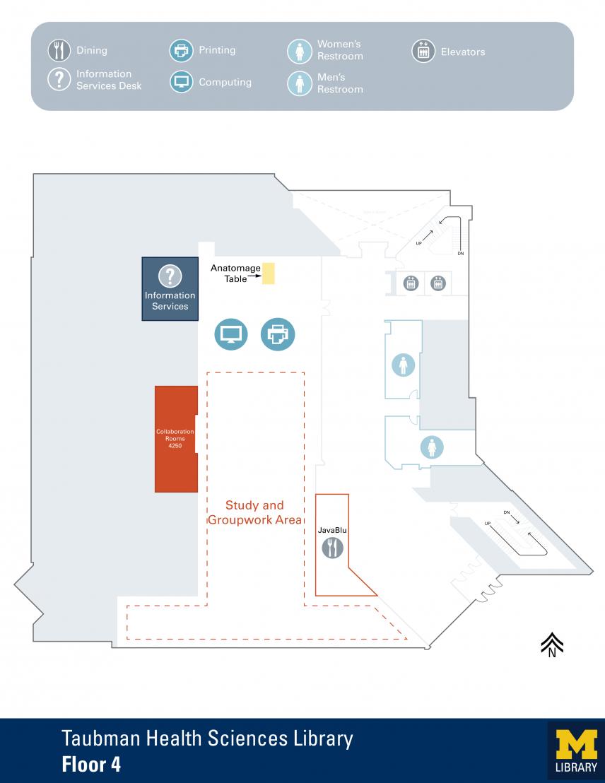 Floor Plan of Taubman Health Sciences Library