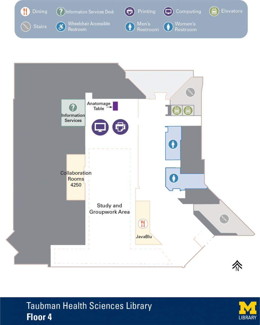 Floor Plan of Taubman Health Sciences Library