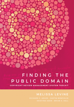 Book cover of Finding the Public Domain
