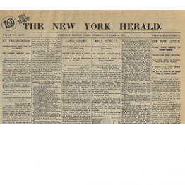 front page of the new york herald newspaper