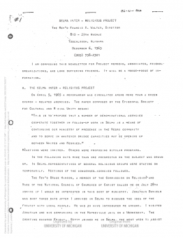 image of typewritten newsletter