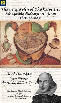 Geography of Shakespeare Third Thursday Exhibit Poster
