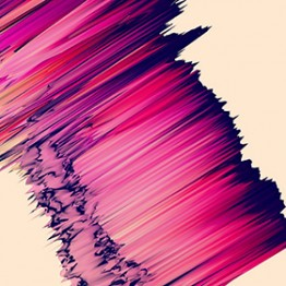 pink and purple lines in experimental digital image