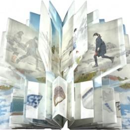 open artists book that shows 3d effect