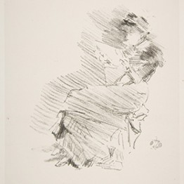 sketch of a woman reading