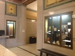 An image of the Hatcher north lobby cases